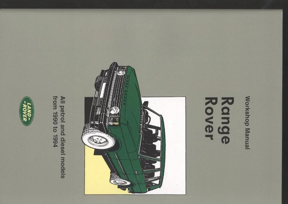 OEM Workshop Manual - Range Rover Classic 1990 - 1994 for Land Rover Range Rover | BA 3077
