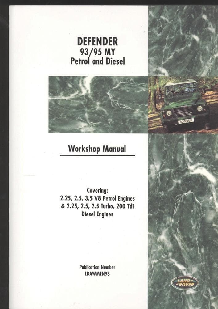 OEM Workshop Manual - Defender 1993 - 1995 for Land Rover Defender | BA 3084