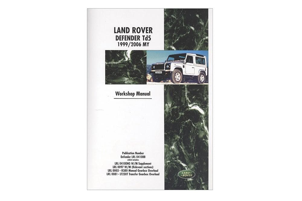 OEM Workshop Manual - Defender TD5 for Land Rover Defender | BA 3250