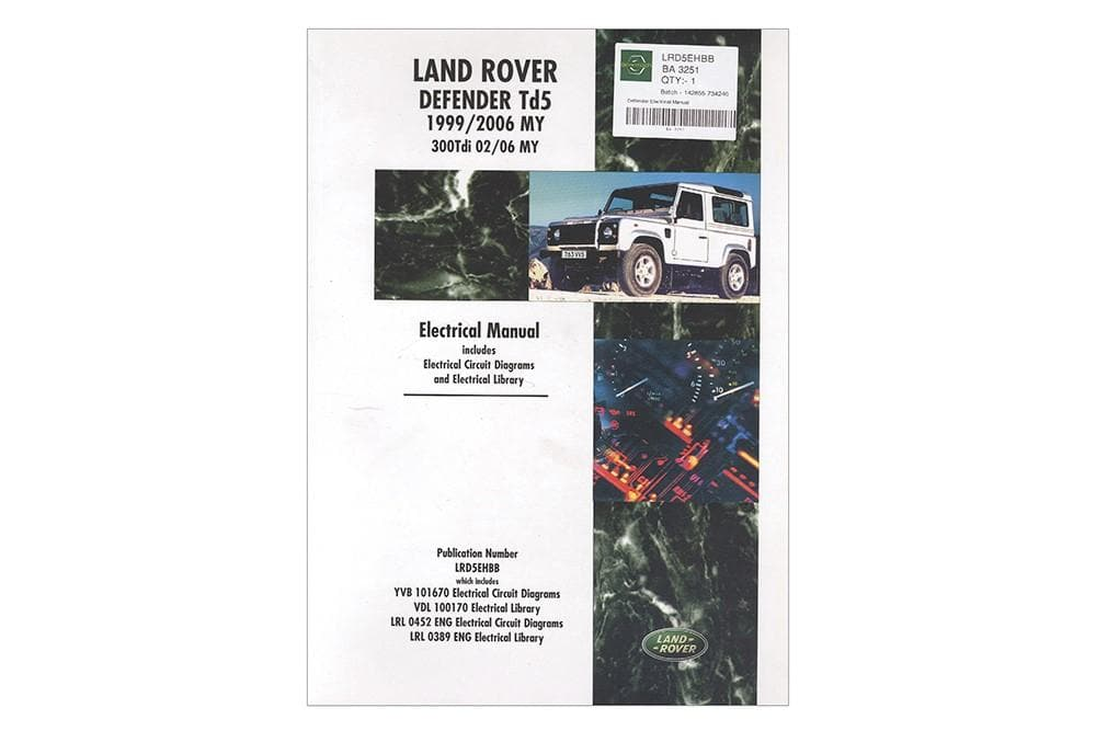 OEM Electrical Manual - Defender for Land Rover Defender | BA 3251
