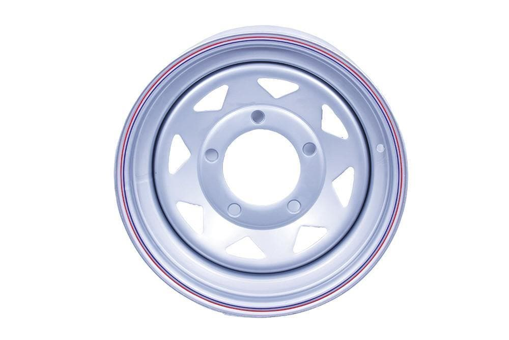 Bearmach 16 x 7 Silver 8 Spoke Steel Wheel for Land Rover Series, Defender, Discovery, Range Rover | BA 3403
