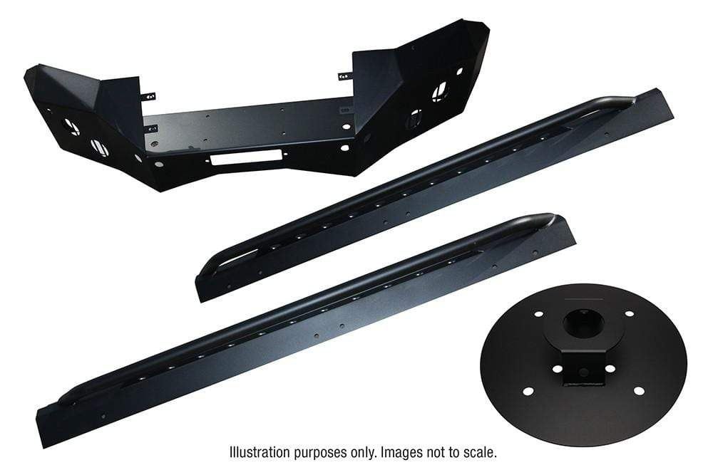 Land Rover Discovery 3 Bearmach Bumper / Rock Sliders / Protection Kit Black | BA 4149