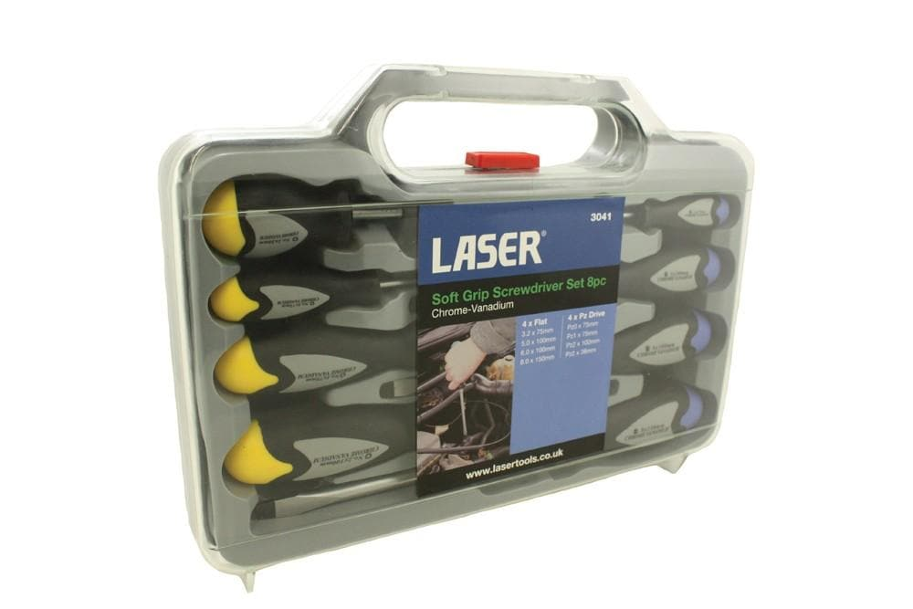 Laser 8pc Screwdriver Set Soft Grip for Land Rover All Models | BA 4900