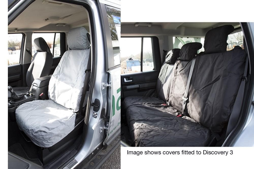 Bearmach Rear Grey Seat Covers for Land Rover Range Rover | BA 6312