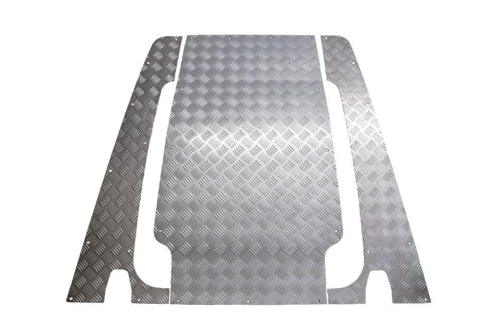 Bearmach Defender Puma 3 Piece Silver Chequer Plate Full Bonnet Kit for Land Rover Defender | BA 7723