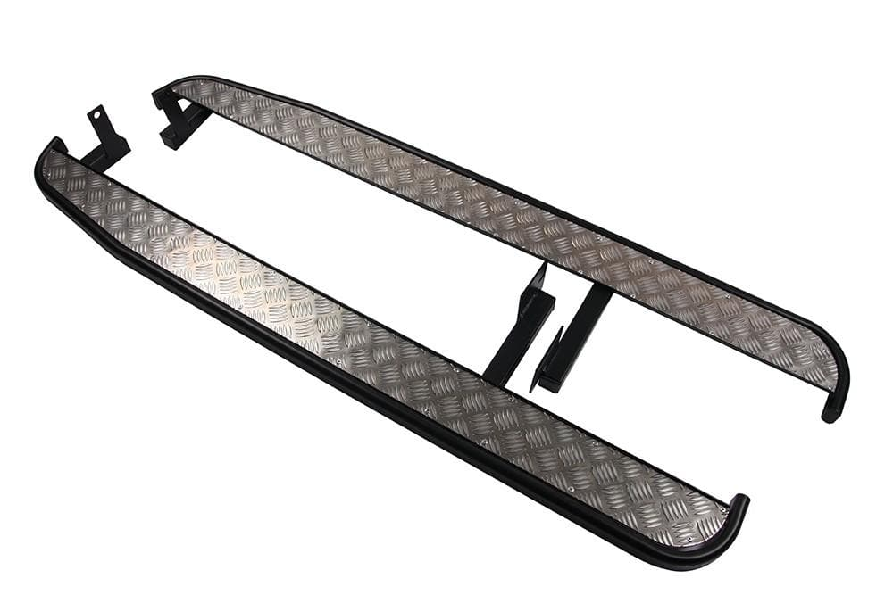Bearmach Land Rover Defender 110/130 Side Steps with Chequer Plate | BA 8905