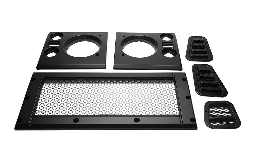 Bearmach Defender Mesh Style Satin Black Face Lift Kit for Land Rover Defender | BA 9451