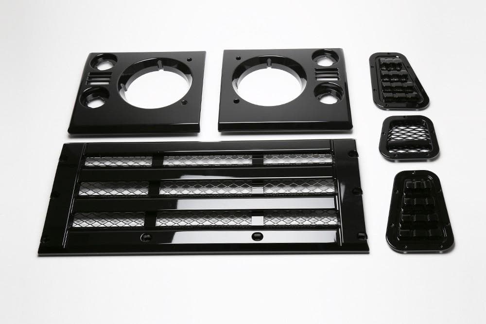 Bearmach Defender Standard Style Gloss Black Face Lift Kit for Land Rover Defender | BA 9454