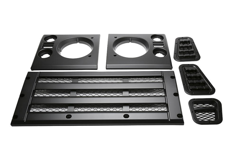 Bearmach Defender Standard Style Satin Black Face Lift Kit for Land Rover Defender | BA 9455