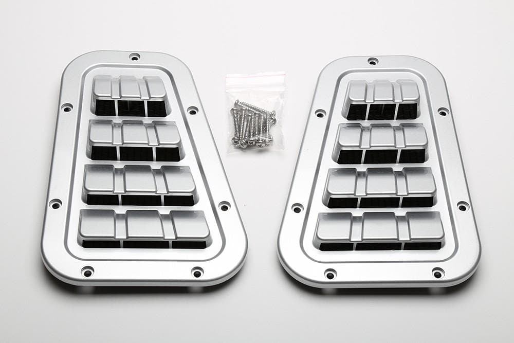 Bearmach Defender Zambezi Silver Two Line Top Vent Set for Land Rover Defender | BA 9461