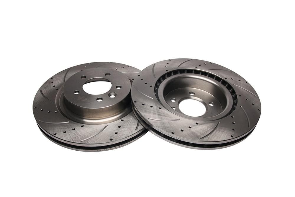 Bearmach Front Drilled & Grooved Brake Discs (Pair) for Discovery 4, RRS L320 | BA 9617