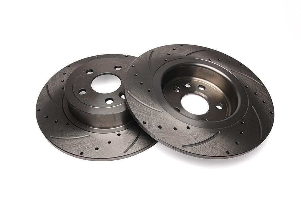 Bearmach Rear Drilled & Grooved Brake Discs (Pair) for Range Rover Evoque | BA 9628