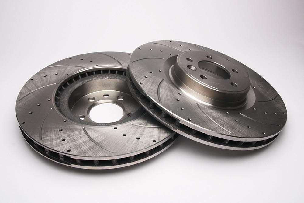 Bearmach Front Drilled & Grooved Brake Discs (Pair) for Range Rover L405, RRS L320/L494 | BA 9632