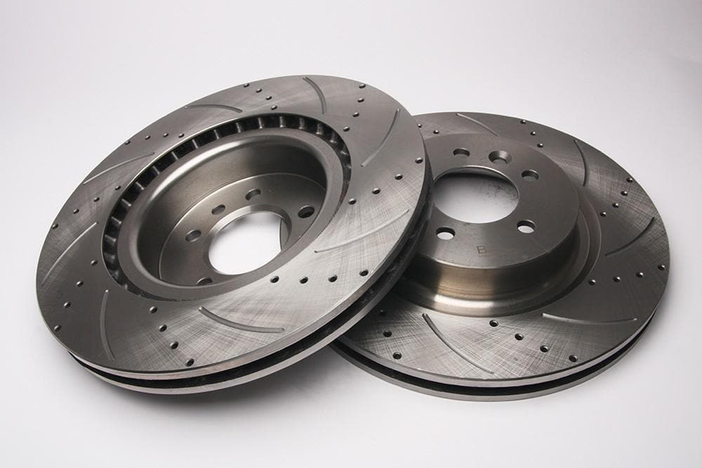 Bearmach Front Drilled & Grooved Brake Discs (Pair) for Discovery 5, Range Rover L405, RRS L494 | BA 9634
