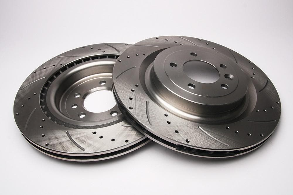 Bearmach Rear Drilled & Grooved Brake Discs (Pair) for Range Rover L405, RRS L494 | BA 9635