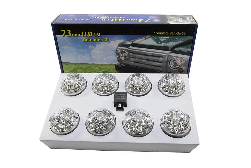 Bearmach Defender/Series LED Clear Lamp Upgrade Kit for Land Rover Series,  Defender | BA 9718