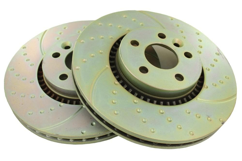 EBC Front Performance Drilled & Grooved Brake Discs (Pair) for Land Rover Freelander | LR000470P