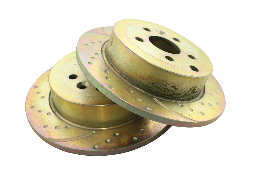 EBC Rear Performance Drilled & Grooved Brake Discs (Pair) for Land Rover Freelander | LR001018P