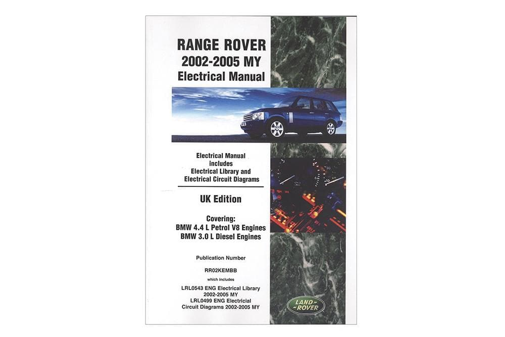 OEM Electrical Manual - Range Rover L322 for Land Rover Range Rover | LRL0543ENG