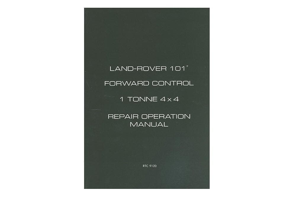OEM Workshop Manual - 101 for Land Rover Series | RTC9120B