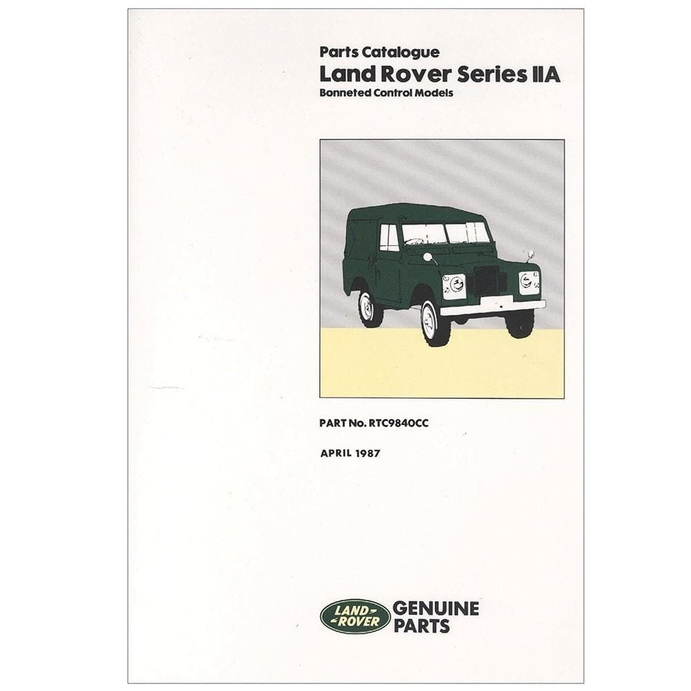 OEM Parts Catalogue - Series 2a for Land Rover Series | RTC9840C