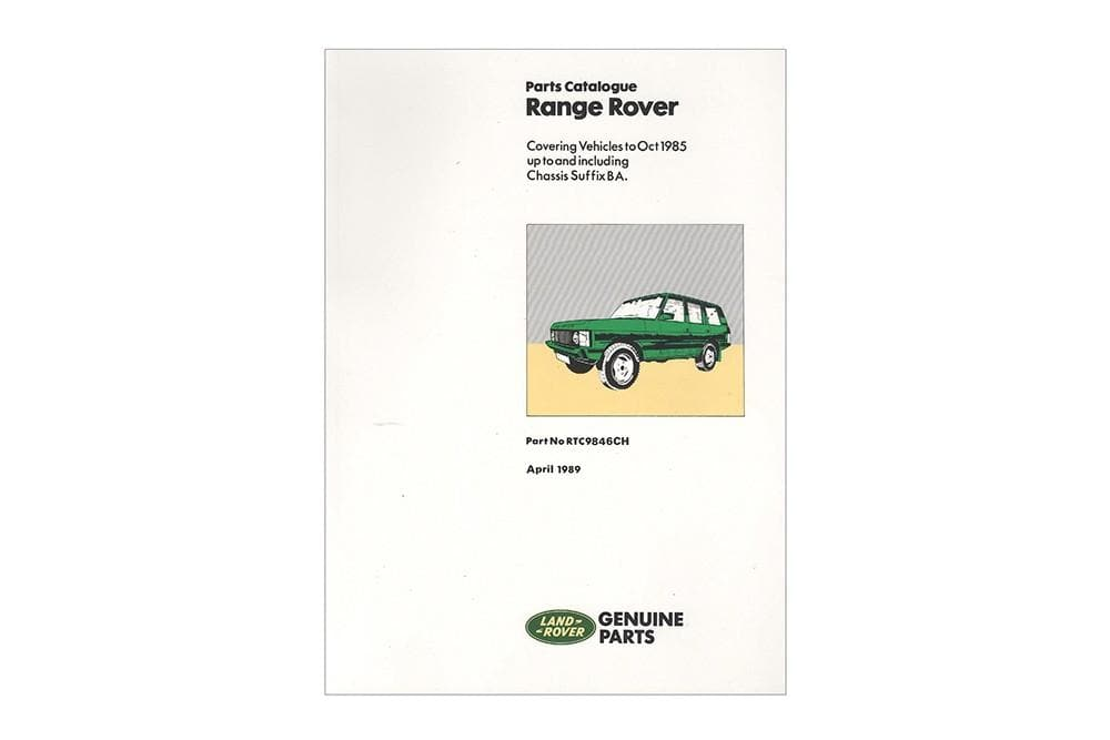 OEM Parts Catalogue - Range Rover Classic 1970 - 1985 for Land Rover Range Rover | RTC9846C