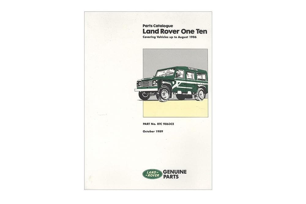 OEM Workshop Manual - 110 for Land Rover Defender | RTC9863C