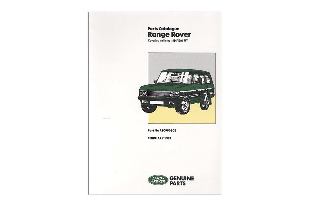 OEM Parts Catalogue - Range Rover Classic 1986 - 1992 for Land Rover Range Rover | RTC9908C