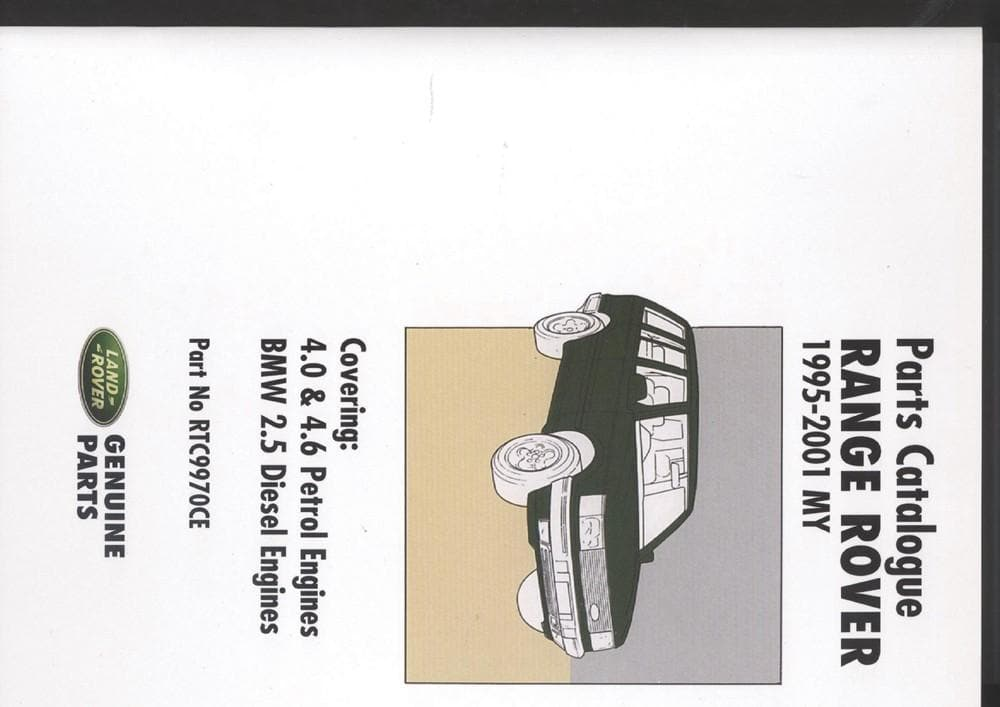 OEM Parts Catalogue - Range Rover P38 for Land Rover Range Rover | RTC9970CE