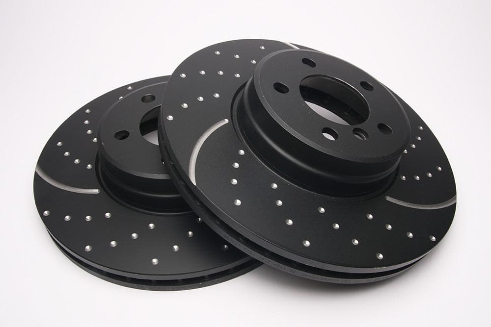 EBC Front Performance Drilled & Grooved Brake Discs (Pair) for Range Rover L322 | SDB000201P