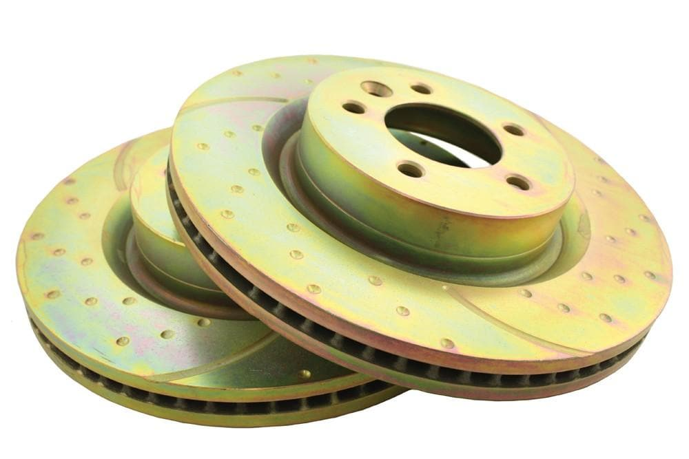 EBC Front Performance Drilled & Grooved Brake Discs (Pair) for Land Rover Discovery, Range Rover | SDB000612P