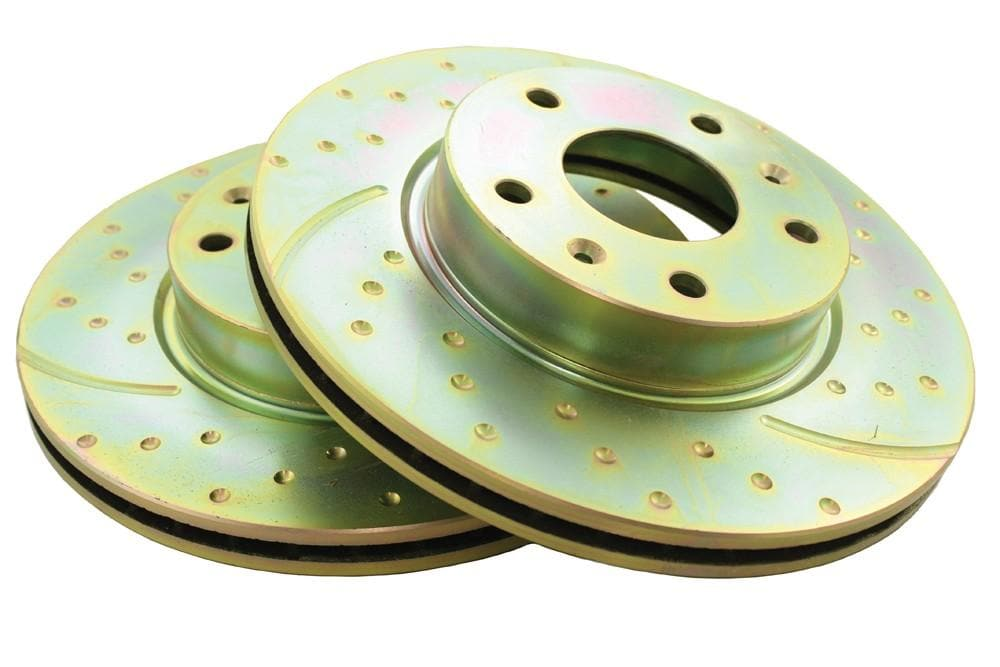 EBC Front Performance Drilled & Grooved Brake Discs (Pair) for Land Rover Freelander | SDB101070P