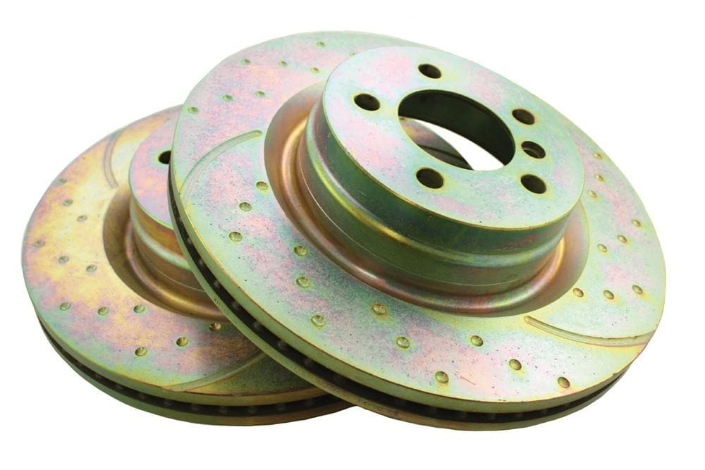 EBC Front Performance Drilled & Grooved Brake Discs (Pair) for Land Rover Range Rover | SDB500181P
