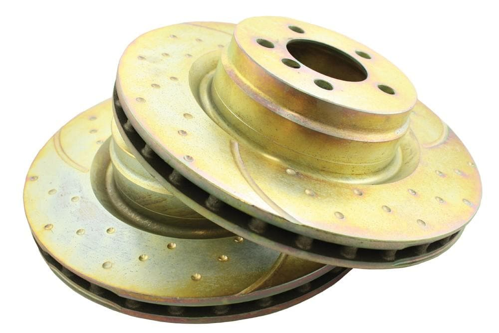 EBC Front Performance Drilled & Grooved Brake Discs (Pair) for Land Rover Range Rover | SDB500192P