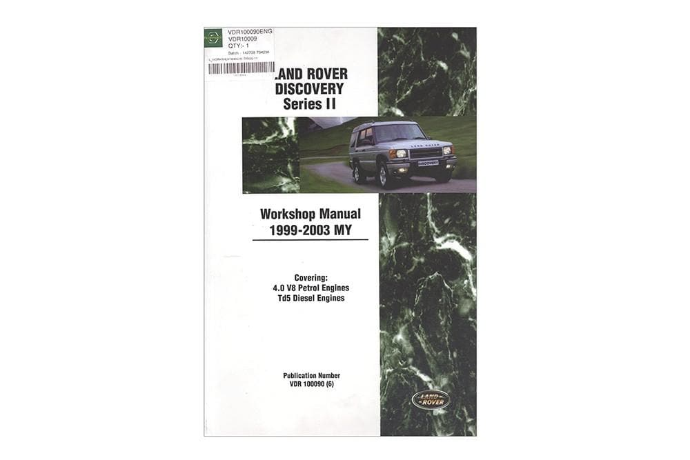 OEM Workshop Manual - Discovery 2 for Land Rover Discovery | VDR10009