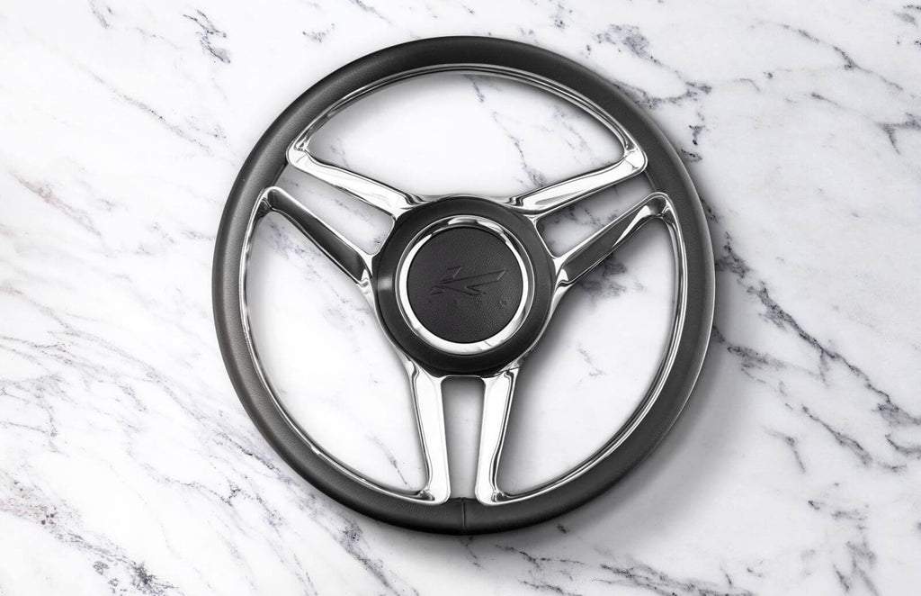 Kahn Double 3-Spoke Steering Wheel Aluminium Billet - Defender