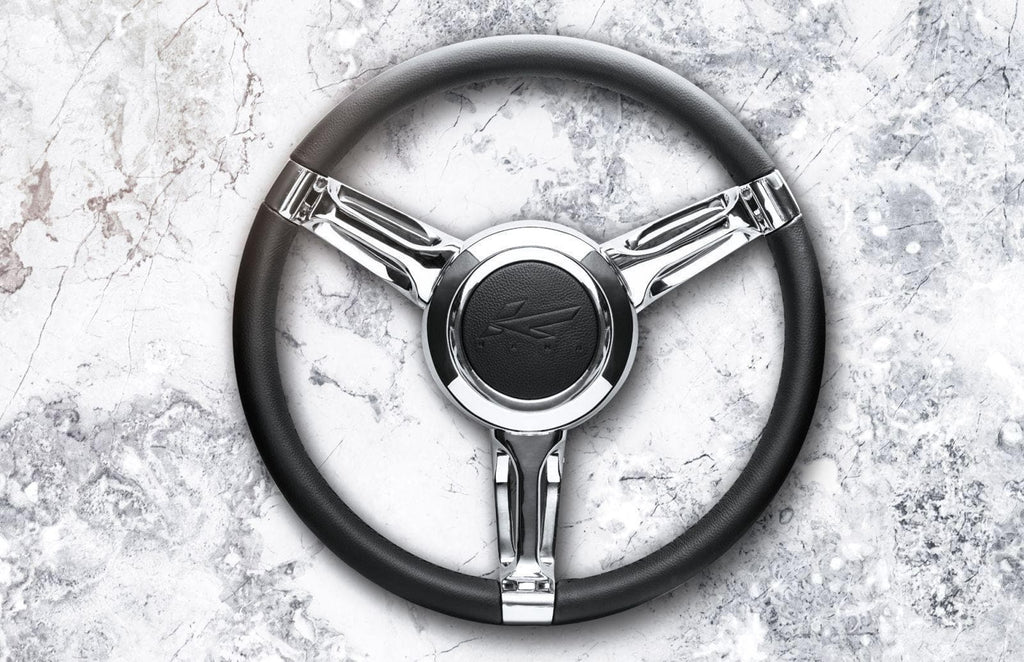 Kahn Single 3-Spoke Steering Wheel Aluminium Billet - Defender