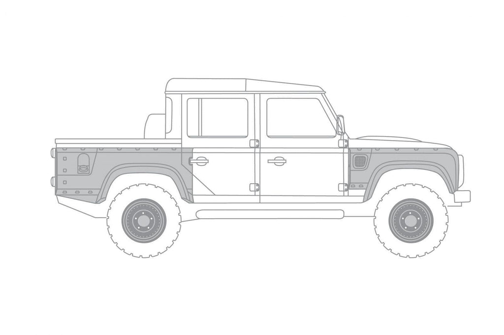 Kahn Wide Track Body Kit with Wide Wings & Vents - Defender 110