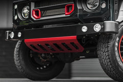 Kahn Front Bumper Sump Guard Stainless Steel Black - Defender