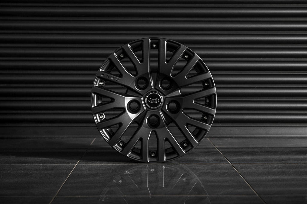 "Kahn Alloy Wheel 8x18"" Defend 1983 Satin Black - Defender"