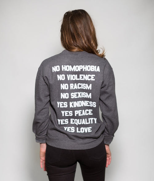NO / YES SWEATSHIRT