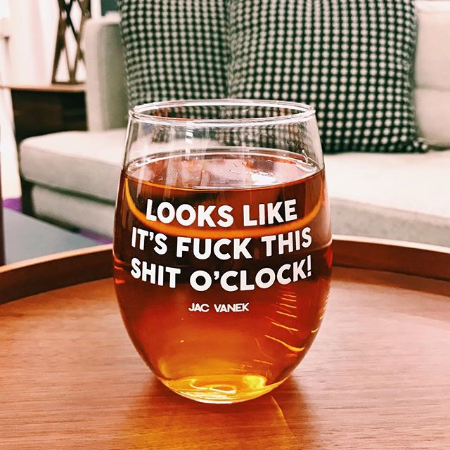 FUCK THIS SHIT WINE GLASS