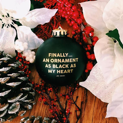 BLACK HEART ORNAMENT