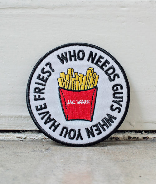 FRIES BEFORE GUYS IRON ON PATCH