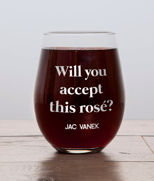 ROSÉ EVER AFTER WINE GLASS