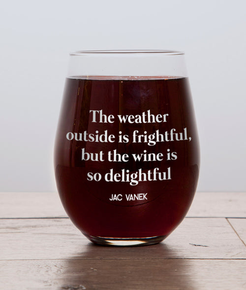 WINE IS DELIGHTFUL WINE GLASS