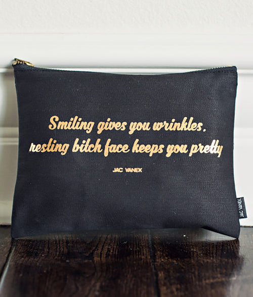 BITCH FACE ZIP POUCH