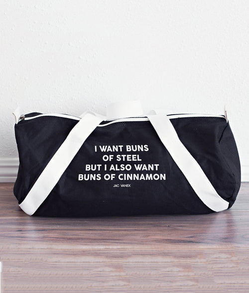 BUNS OF CINNAMON DUFFEL BAG