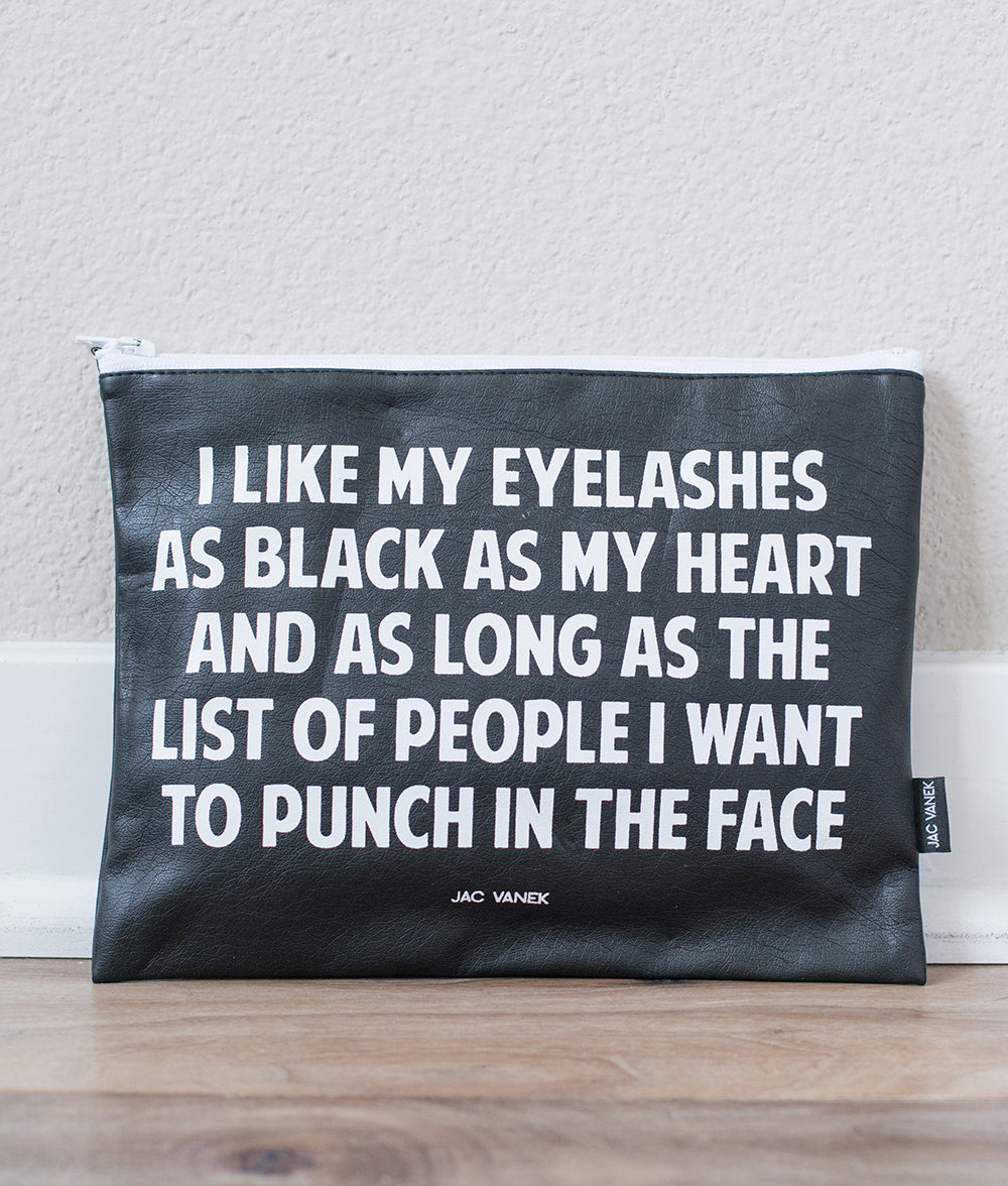EYELASHES ZIP POUCH