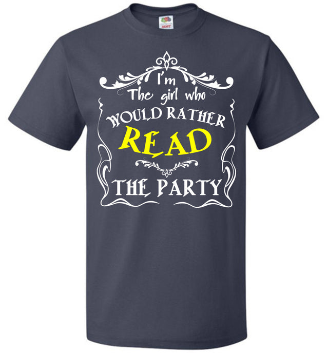 I'm the girl who would rather read the party